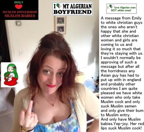 white slut for muslim