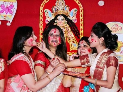 hot bengali women durga pooja