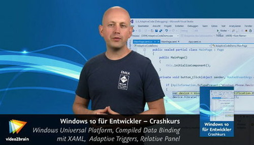 Video2Brain  Windows 10 für Entwickler – Crashkurs