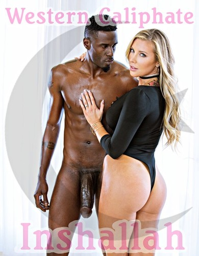 white girl black muslim cock